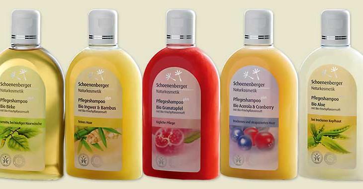 Pflegeshampoos von Schoenenberger