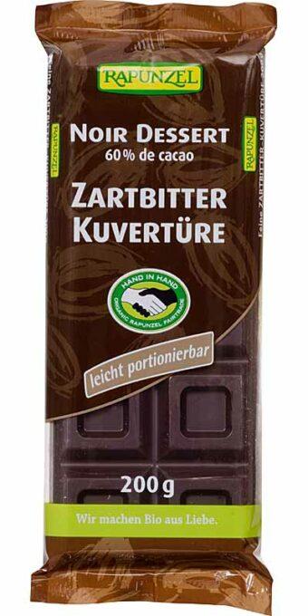 Zartbitter-Kuvertüre 200g-Tafel