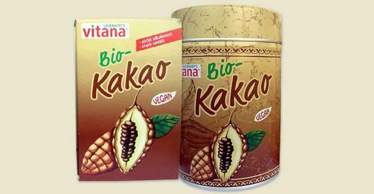 Vitana Bio-Kakao Packung + Dose