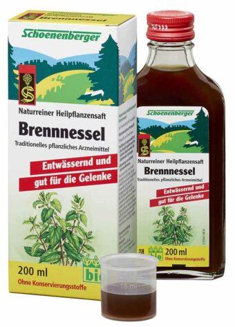 Brennnessel-Saft 200ml-Flasche