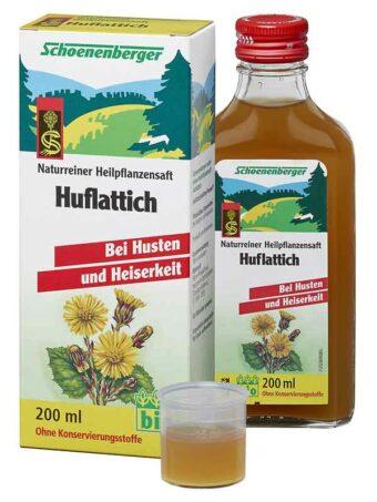 Huflattich-Saft 200ml-Flasche