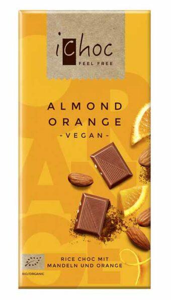 "Rice Choc ""Almond Orange"" 80g-Tafel"