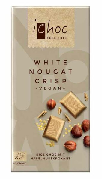 "Rice Choc ""White Nougat Crisp"" 80g-Tafel"