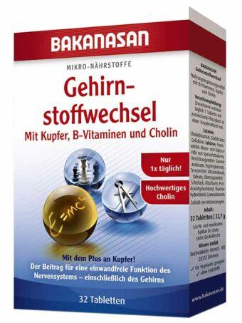 Gehirnstoffwechsel 32 Tabletten