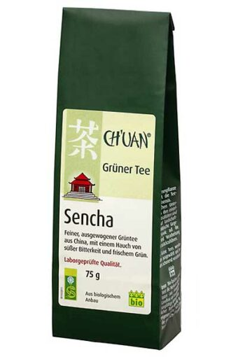 Grüner Tee Sencha 75g-Packung