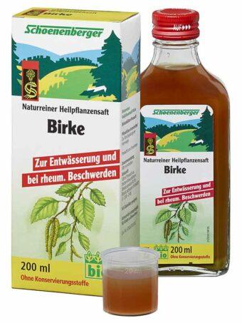 Heilpflanzensaft Birke 200ml-Flasche