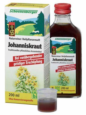 Johanniskraut-Saft 200ml-Flasche