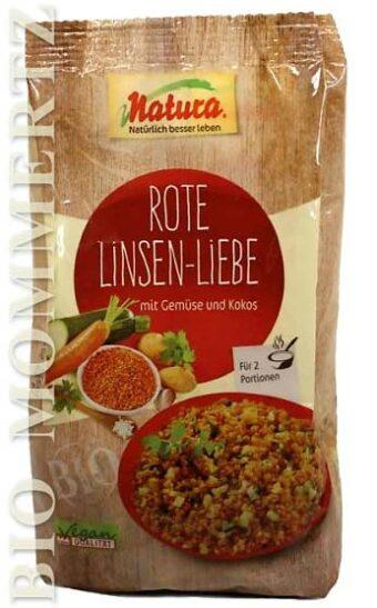 Rote Linsen-Liebe 200g-Packung