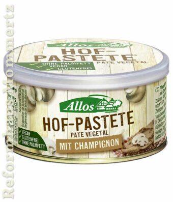 Allos Hofpastete Champignon 125g-Dose